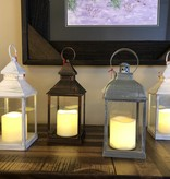 Sullivans Lantern Candle w/1 Pillar - White