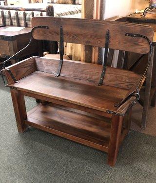 All Resort Furnishings Buckboard Bench w/open back