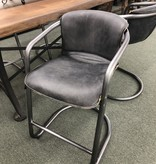 HTD Antique Ebony Counter Chair, 24x22x37