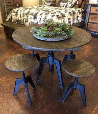 HTD Carnegie Adjustable Round Table 42Dia x 29.5-42H