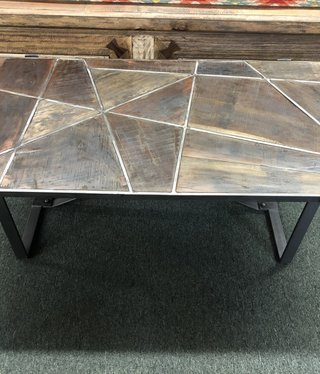 """HTD Old Mill Geometric Coffee Table 52"""""""