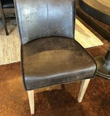 HTD Buddy Brown Leather Side Chair, 19.5x21x30.75