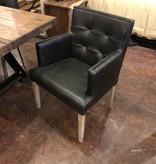 HTD Madison Black Dining Arm Chair, 27x24x34