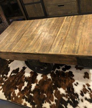 HTD Wheeled Coffee Table, 19x50x29