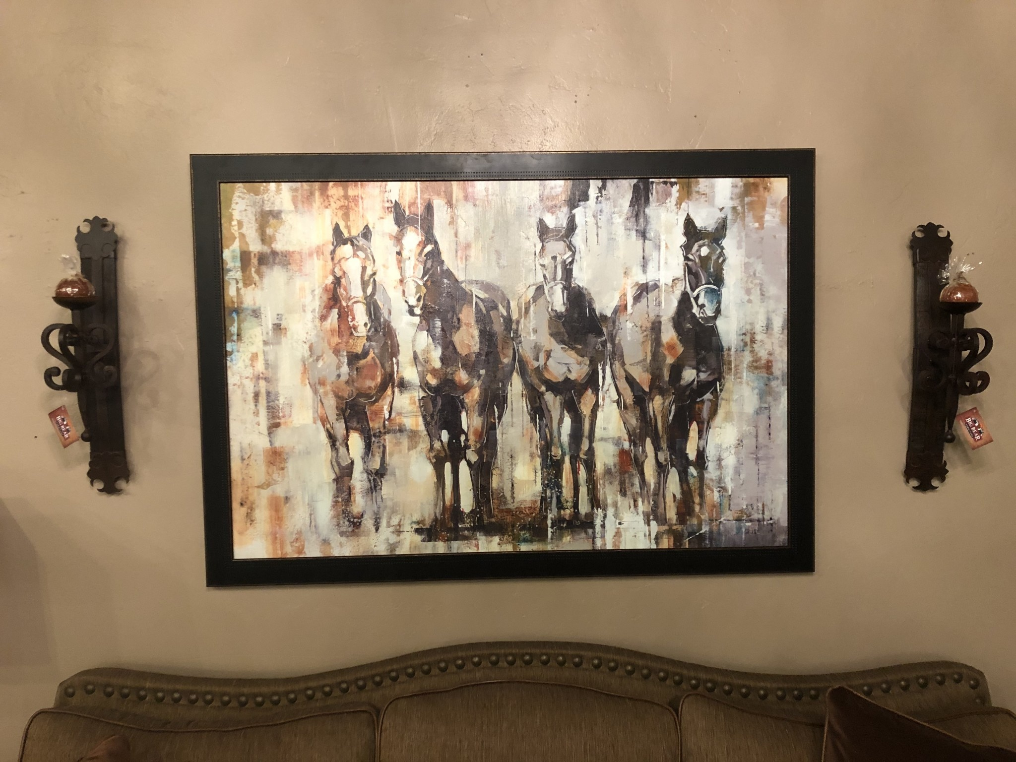 "Prestige Arts ""Lined Up and Ready"" 4 Horses"