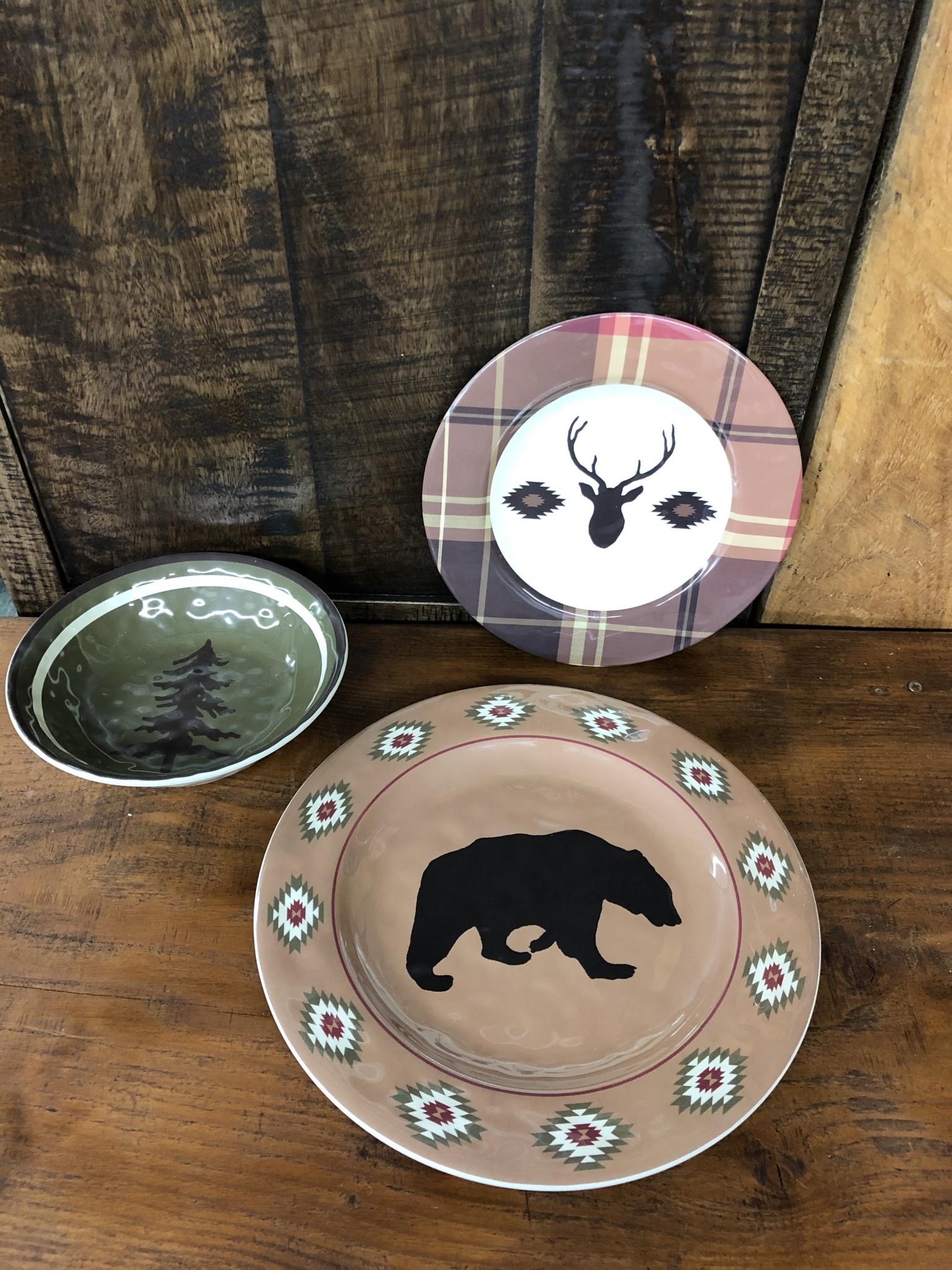 Hiend Aztec Bear Melamine Dinner Plate