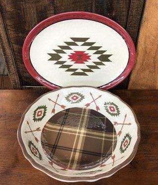 Hiend Aztec Bear Melamine Serving Platter