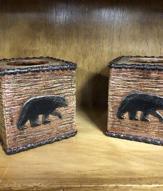 Hiend Rustic Bear Kleenex Box