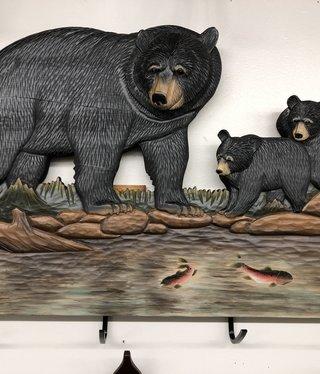 """Dalin Enterprises Bear Family Coat Rack 29""""x19"""""""