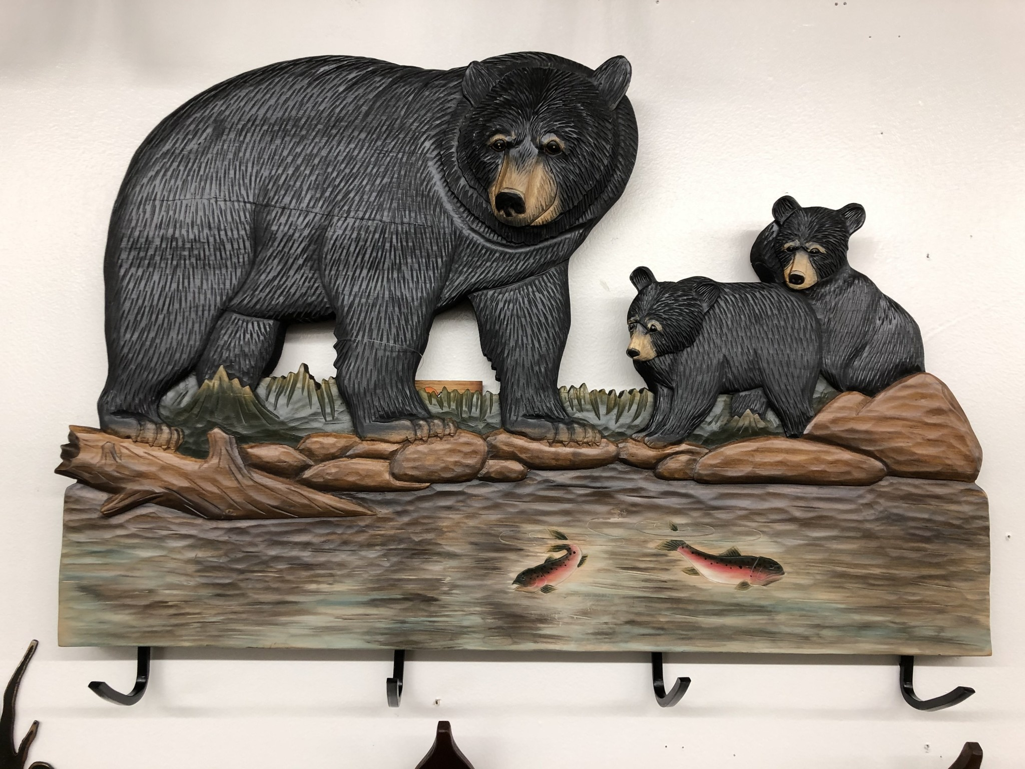 "Dalin Enterprises Bear Family Coat Rack 29""x19"""