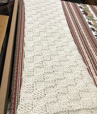 Hiend Knitted Chess Throw - 50x60
