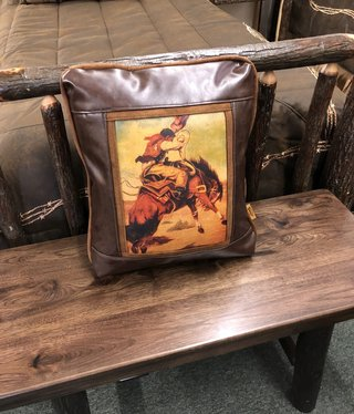 Sweetwater Trading Co Buckin Bronc Pillow