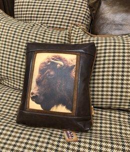 Sweetwater Trading Co Buffalo Head Pillow