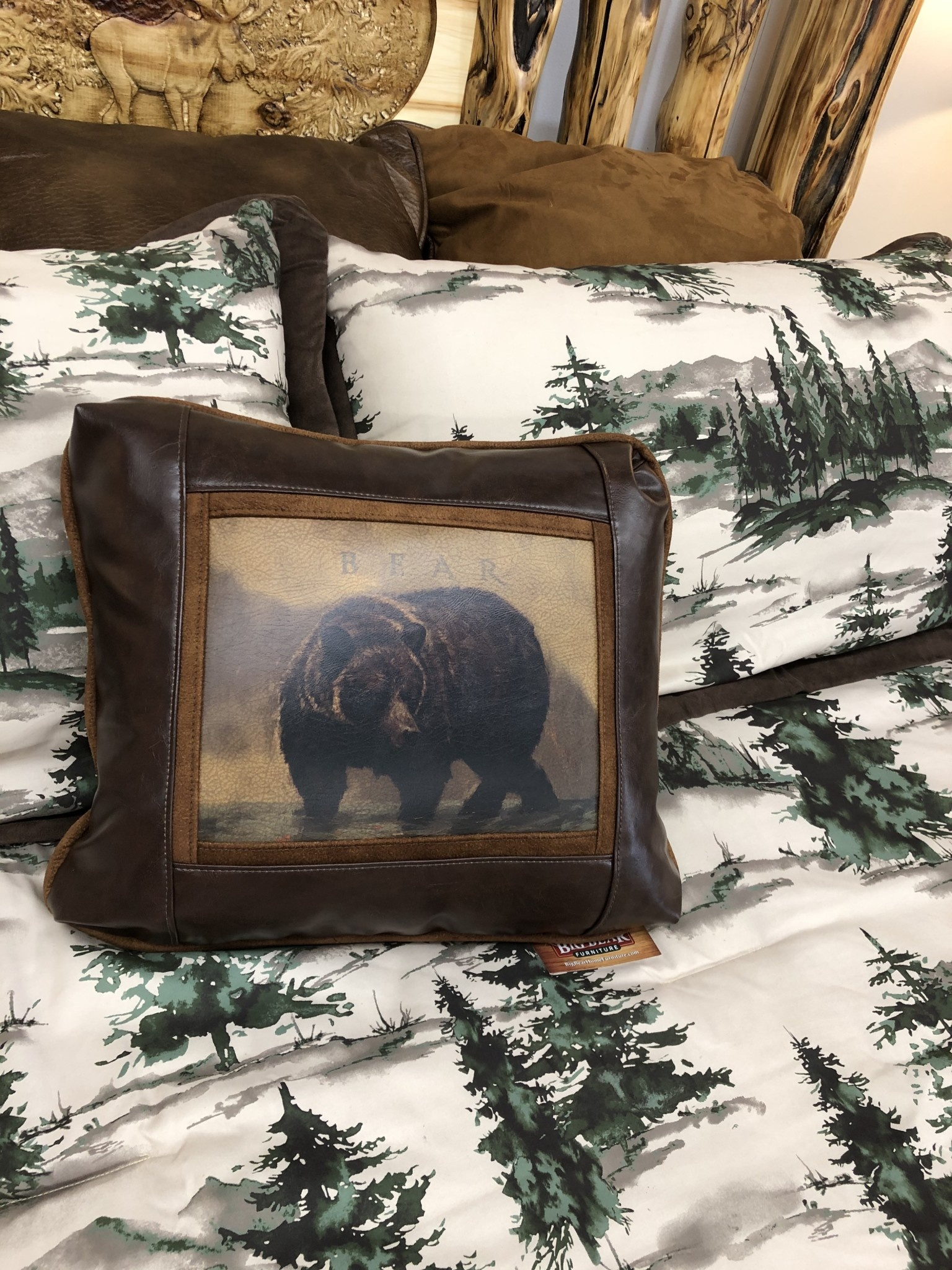 Sweetwater Trading Co Bear Pillow