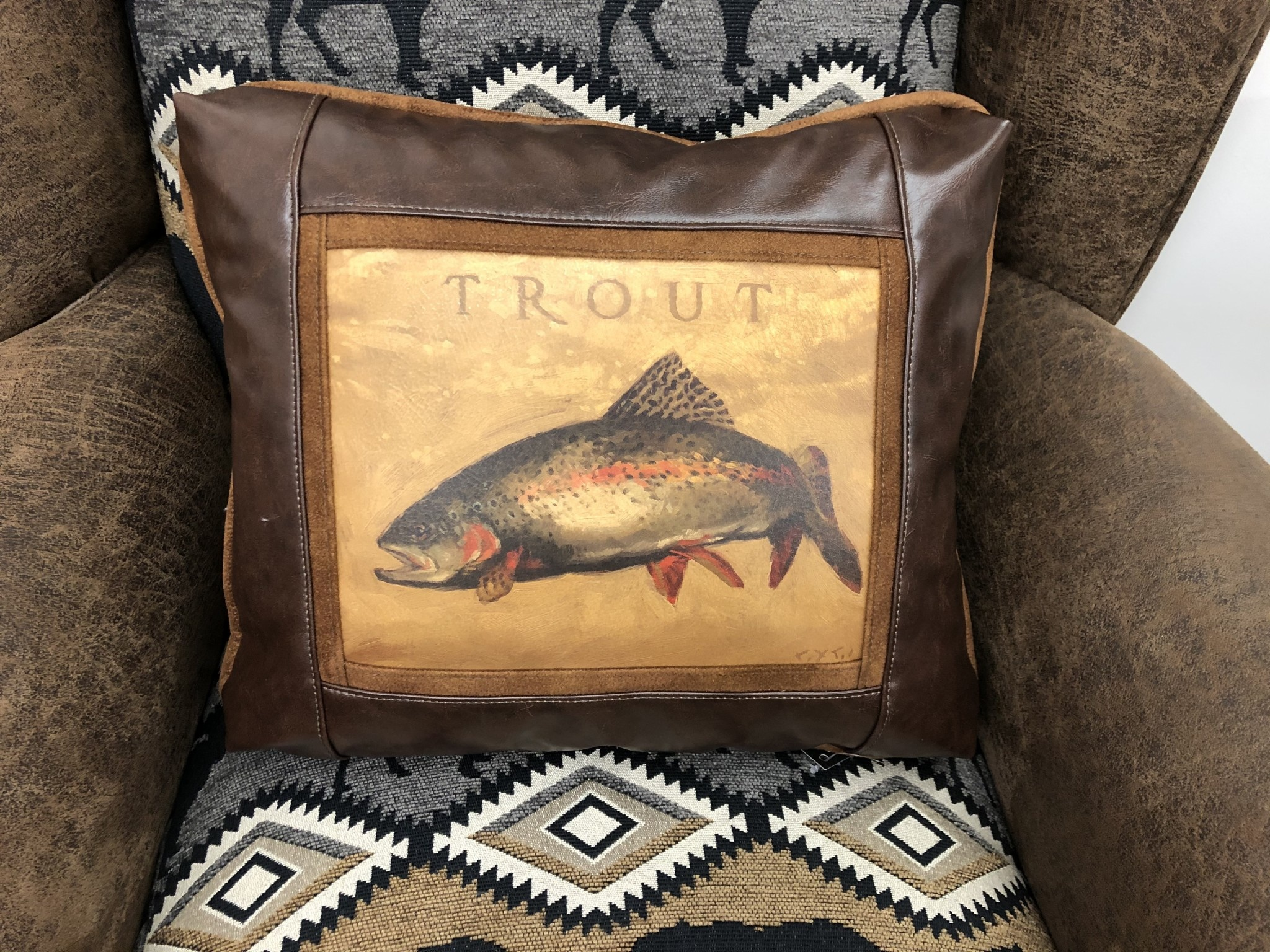 Sweetwater Trading Co Trout Pillow   977CH