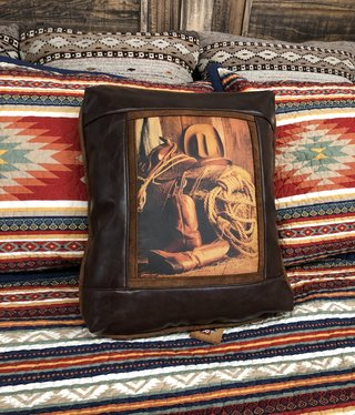 Sweetwater Trading Co Cowboy Gear Pillow