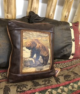 Sweetwater Trading Co Grizzly Bear Pillow  118CV