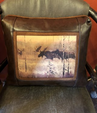 Sweetwater Trading Co Moose Challenge Pillow