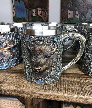 Unison Gifts Wood Like Buffalo Mug