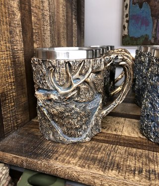 Unison Gifts Wood Like Elk Mug