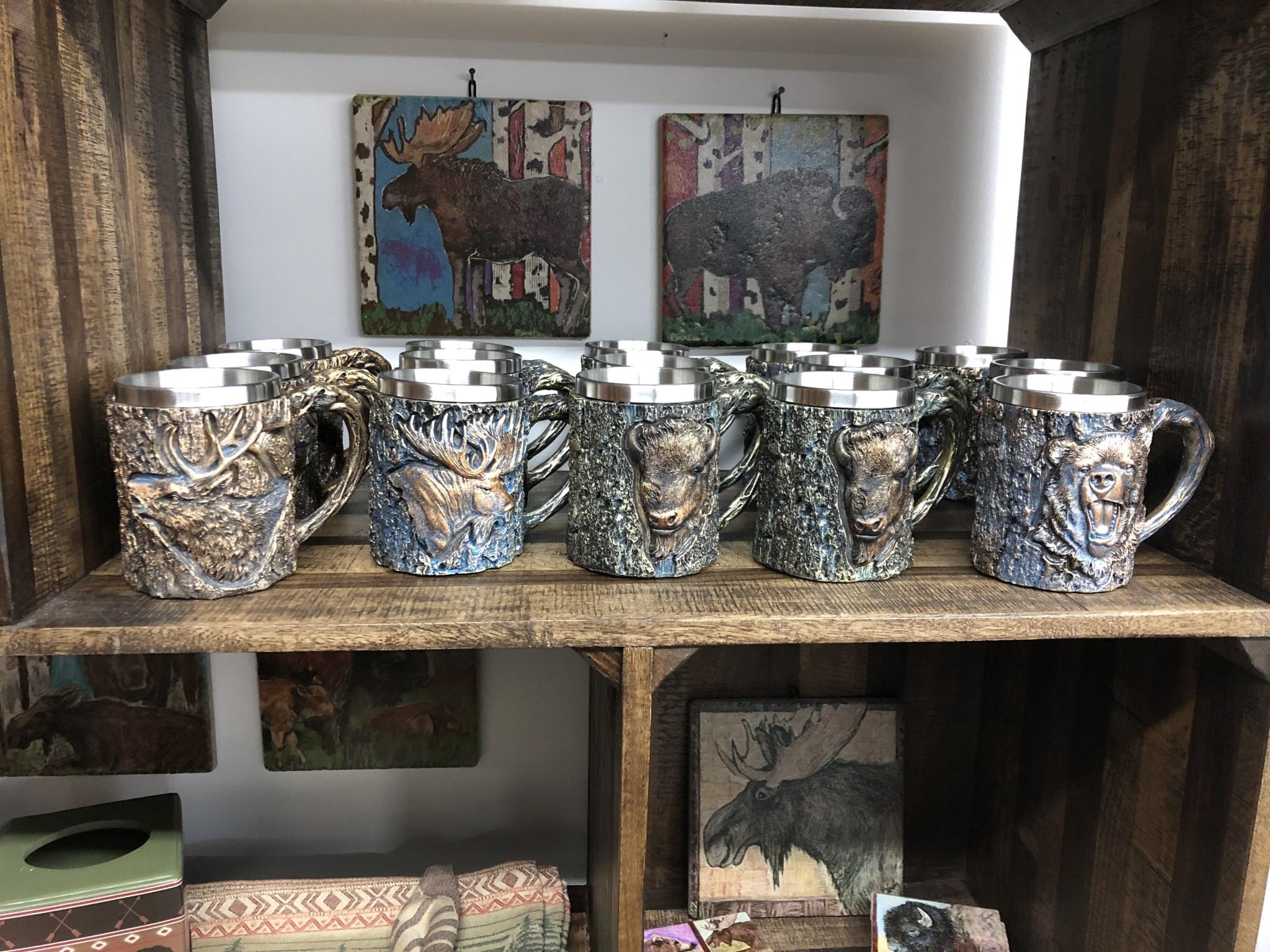 Unison Gifts Wood Like Elk Mug