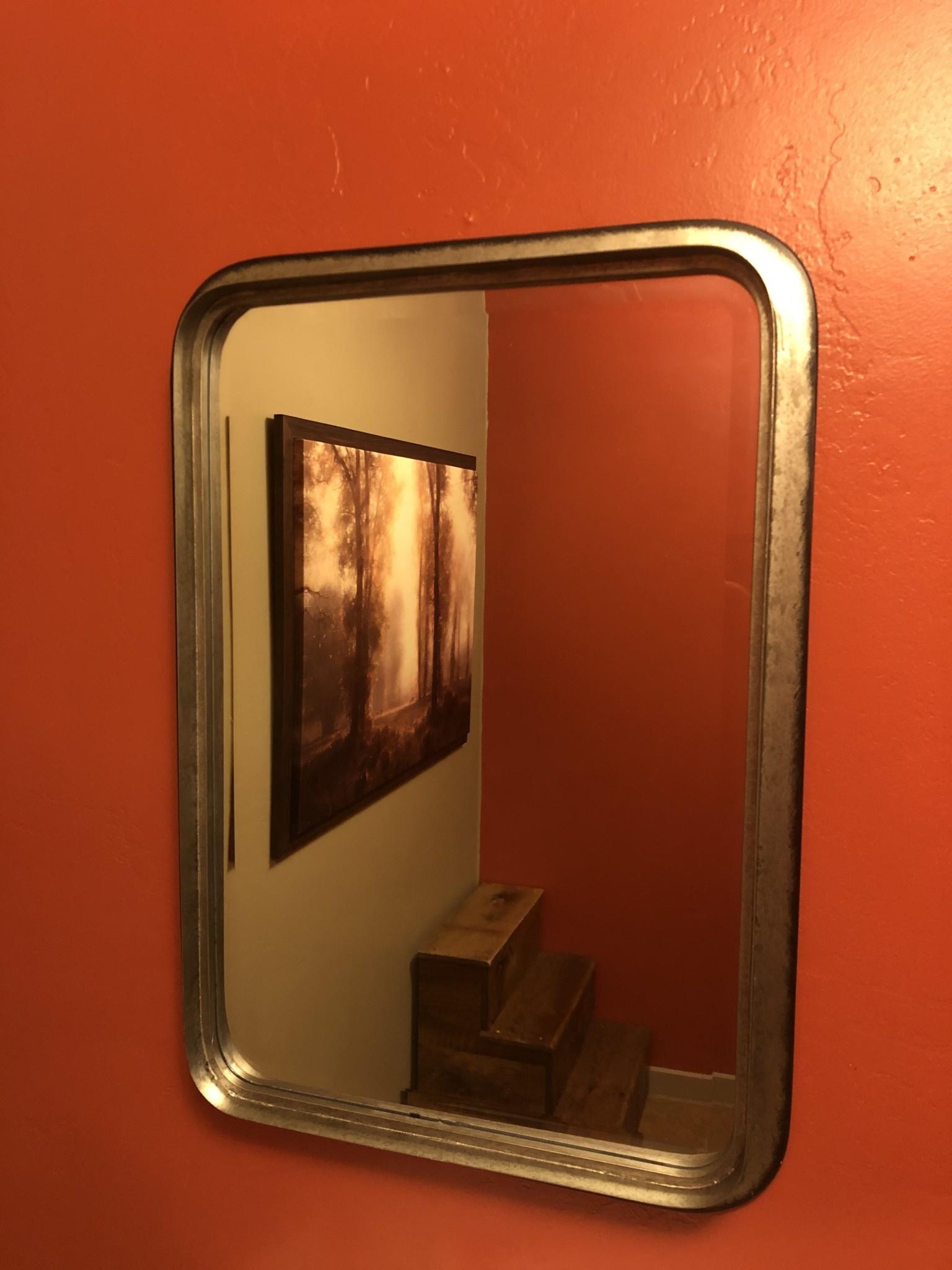 Uttermost Madox Mirror in Galvanized Iron