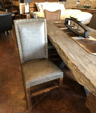 Co-ALBC All Leather Dining Chair with Tacks