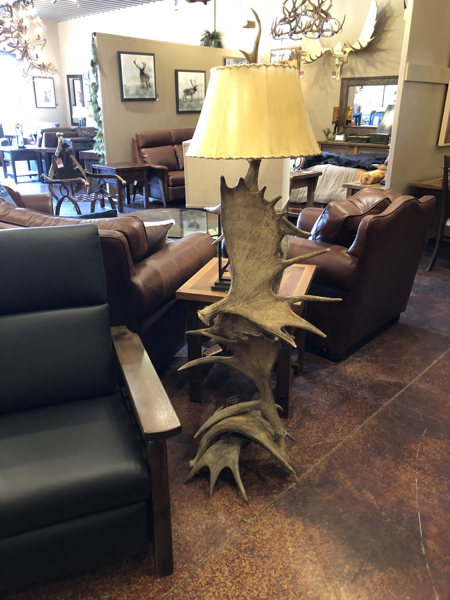 Fish Moose (6 Antler) Floor Lamp