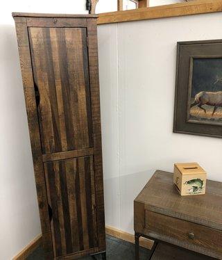 "IFD 7861 70""Bookcase Cabinet w/2 wood doors- 18.5x16x70"