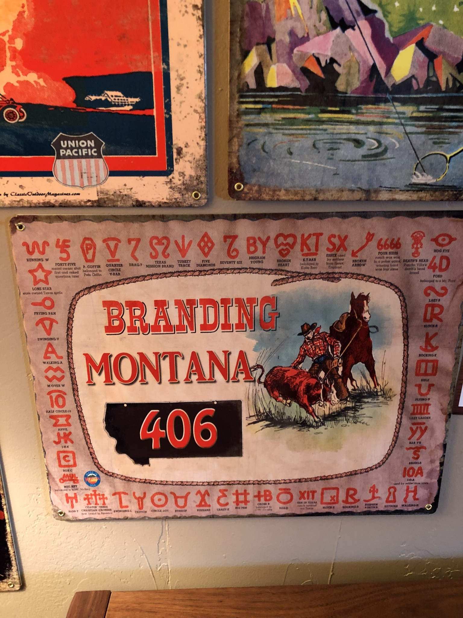 Classic Outdoor Magazines #18  Branding Montana 12x15 Metal Sign