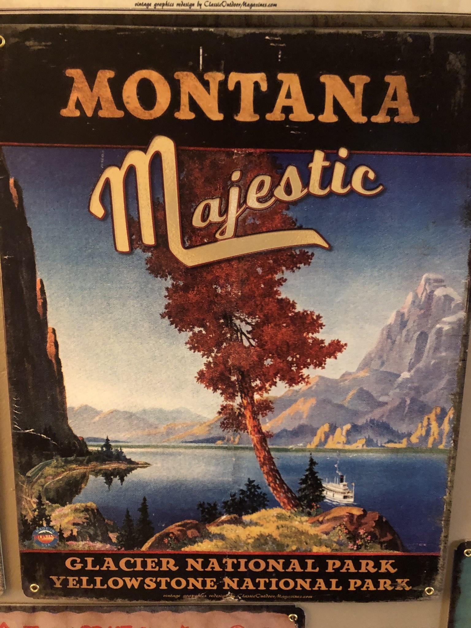 Classic Outdoor Magazines #23  Montana Majestic 12x15 Metal Sign