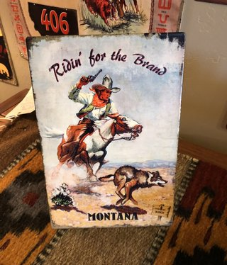 Classic Outdoor Magazines #22 406 Ranch Ridin' the Brand Table Topper