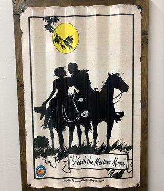Classic Outdoor Magazines #21  Neath a Montana Moon Corrugated 17x24