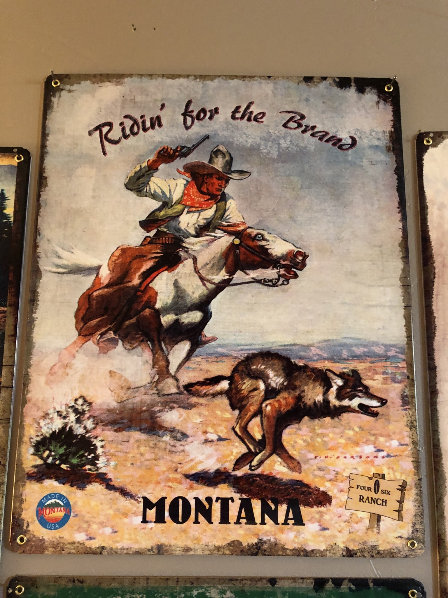 Classic Outdoor Magazines #22 406 Ranch Ridin' the Brand 12x15 Metal Sign