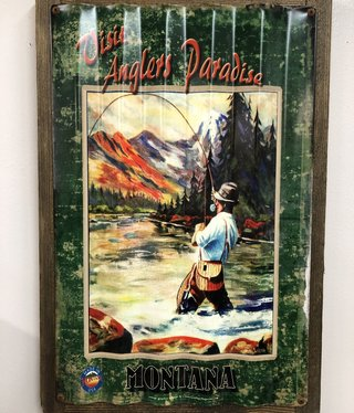 Classic Outdoor Magazines #3  Angler Paradise Corrugated 17x24