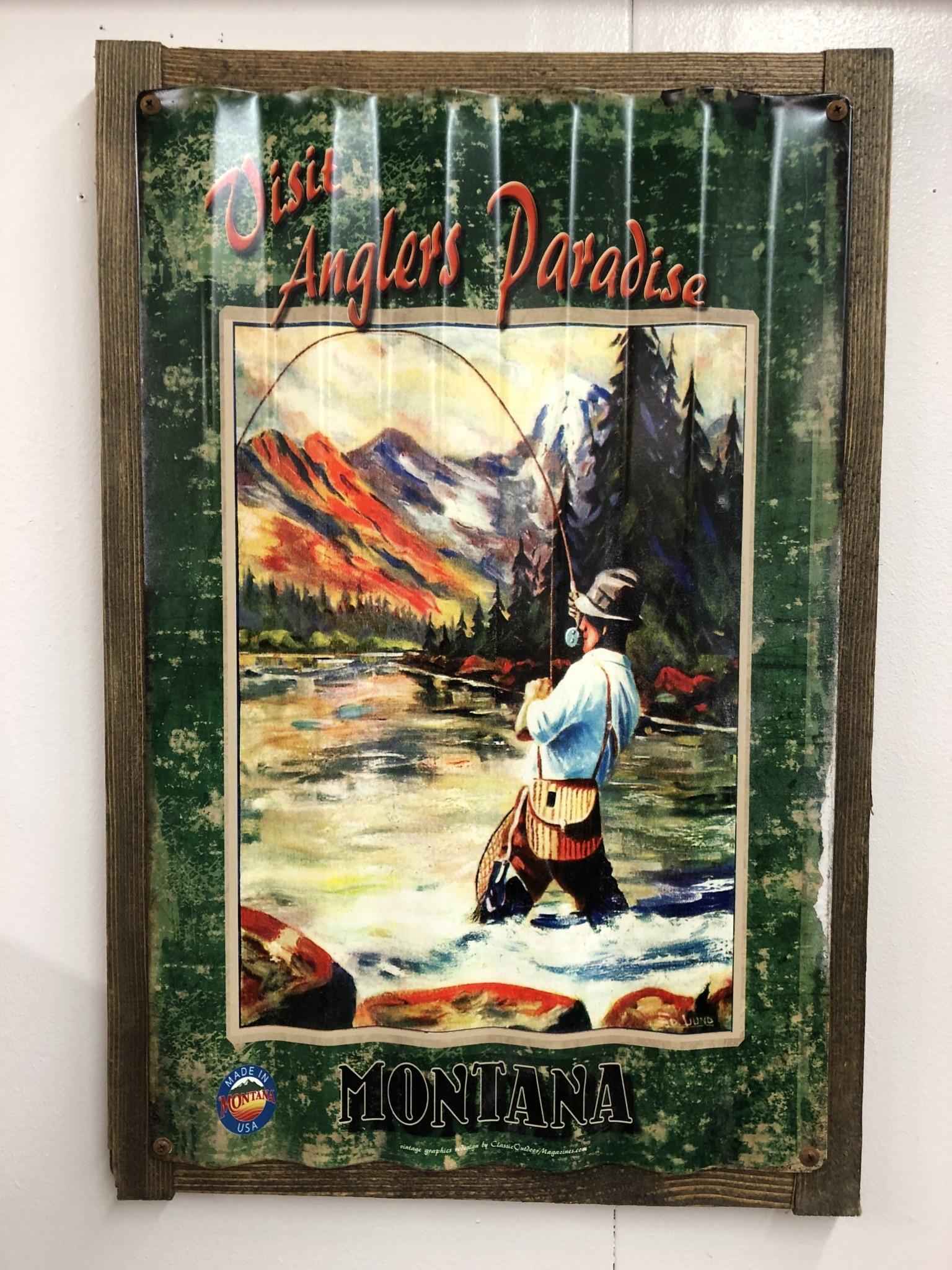Classic Outdoor Magazines #3  Angler Paradise Corrugated 17x24