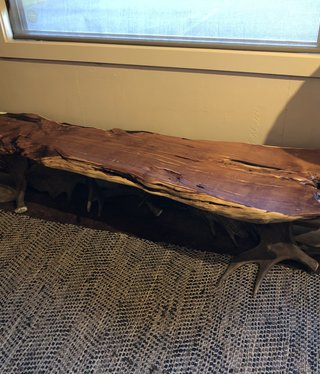 Fish Moose Antler Bench