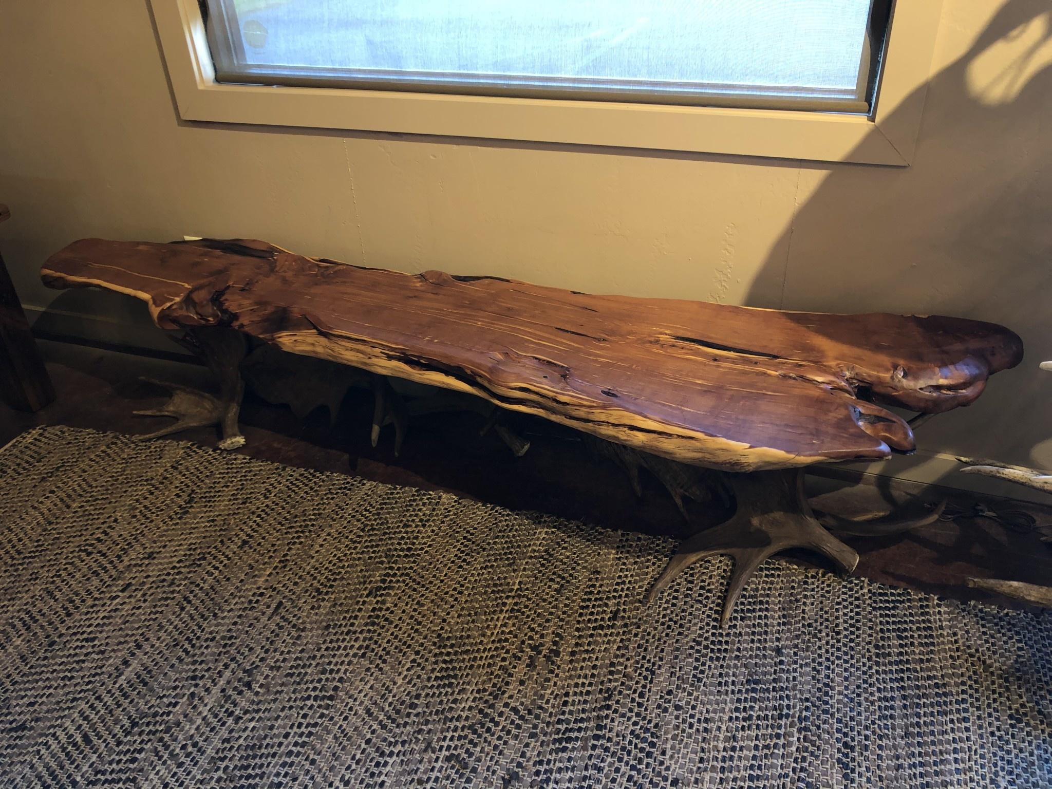 Fish Moose Antler Bench