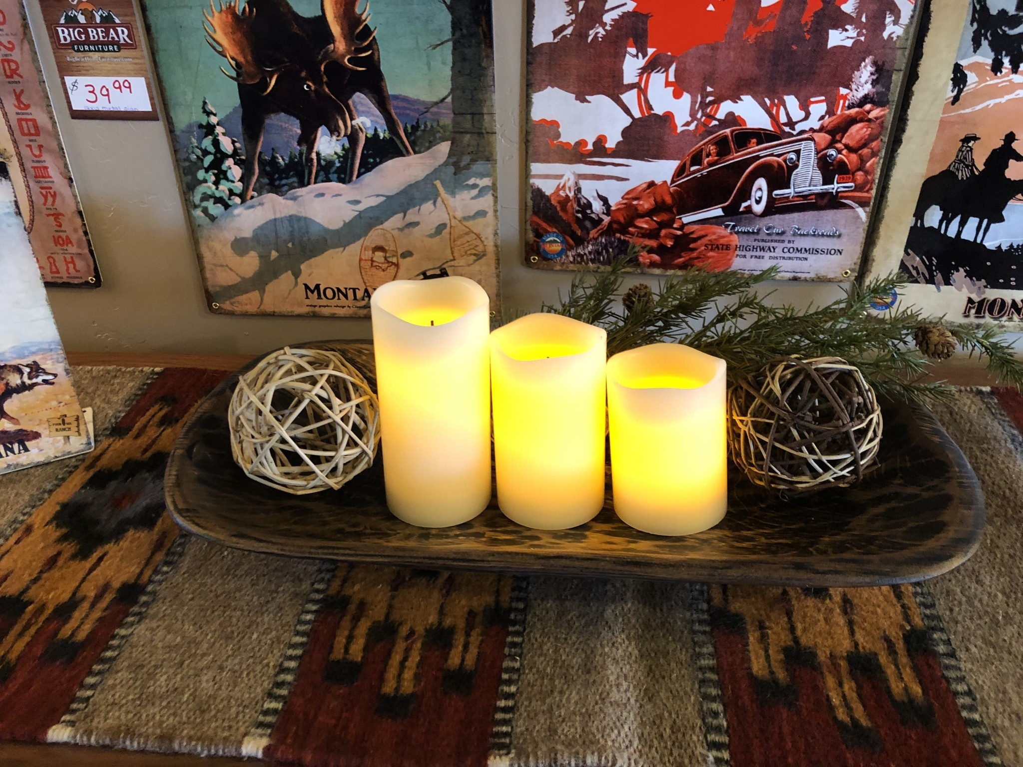 Sullivans Smooth Candle Pillar Set of 3
