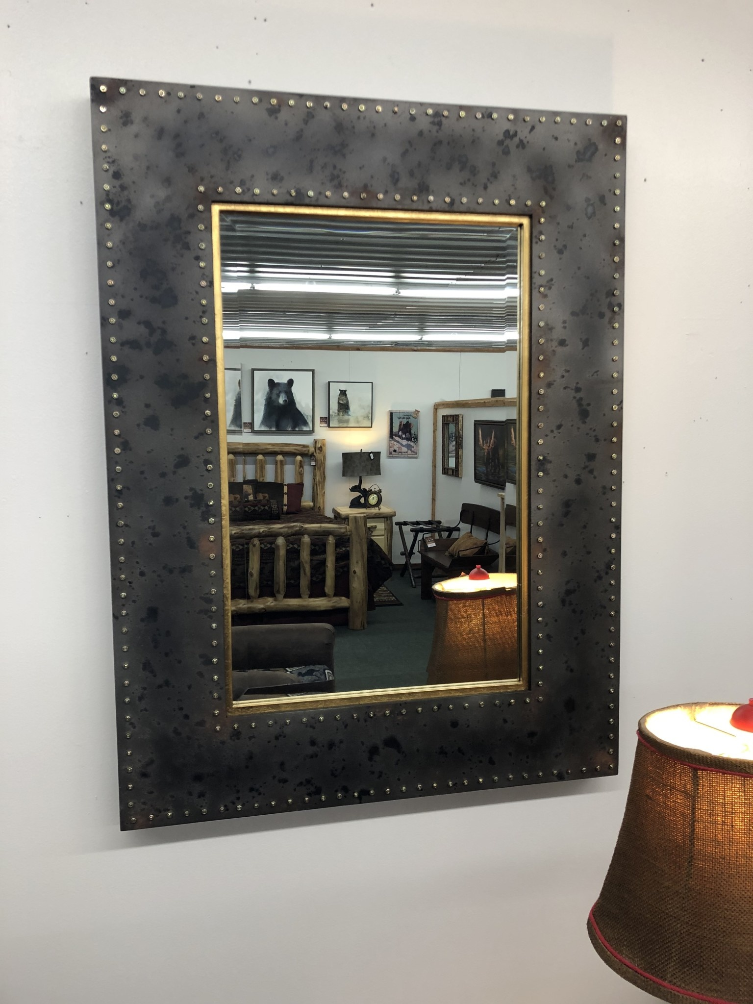 Uttermost Amparo Mirror in Oxidized Steel Gray 30x40x2