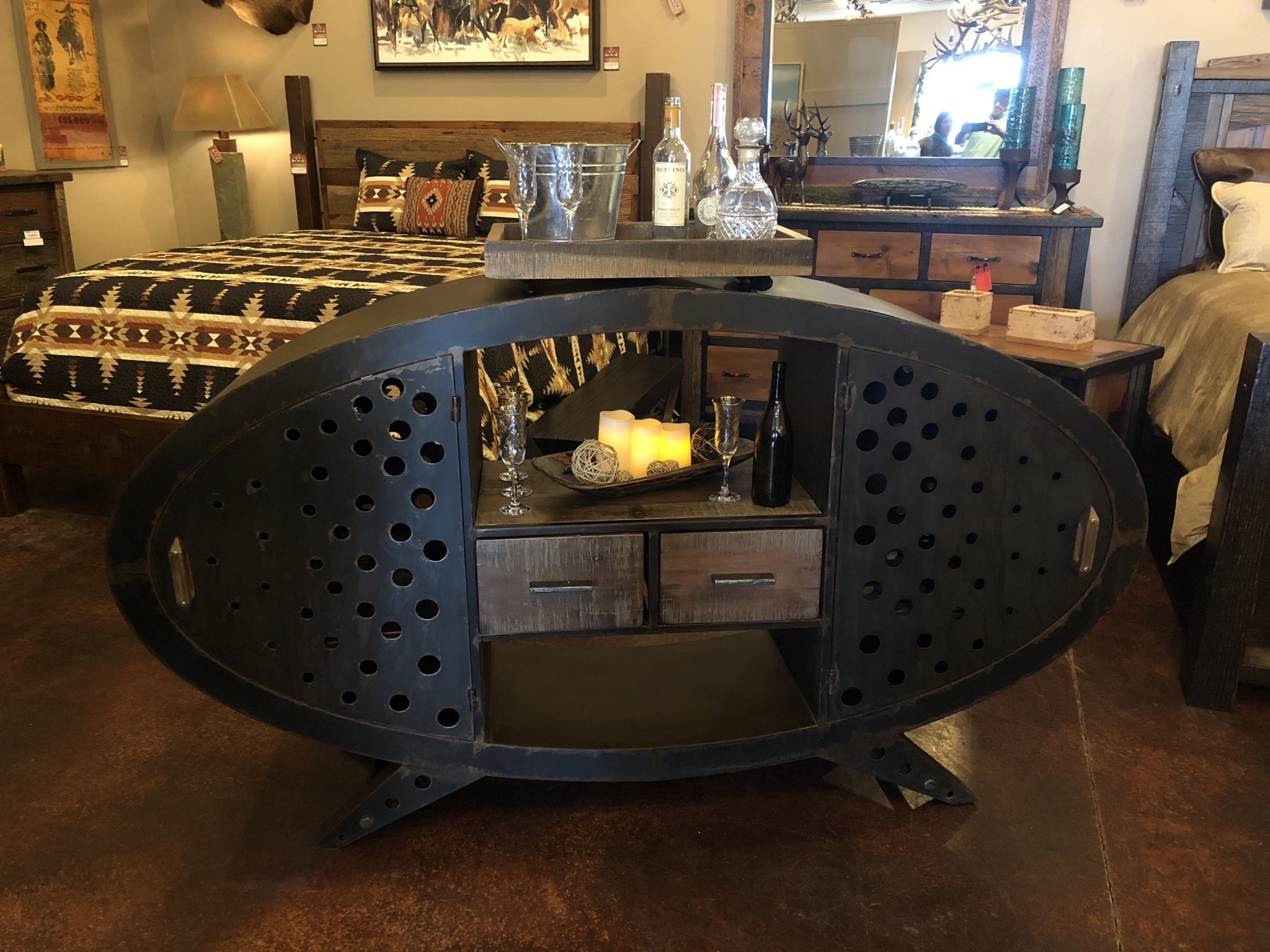 HTD Bowery Bar Cabinet (2 sides) 81x18x48