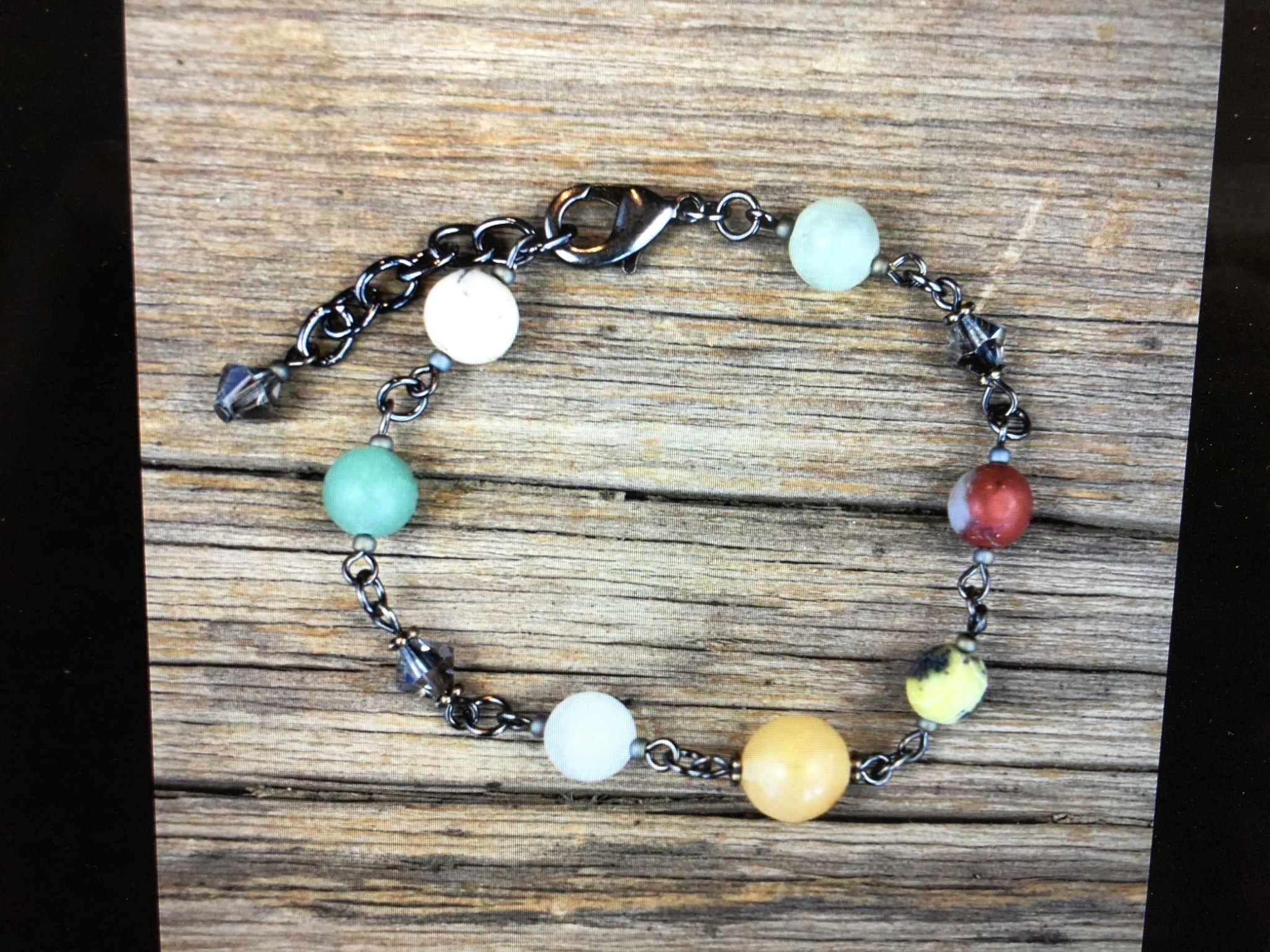cool water jewelry BC104-184 Bracelet: Timberline-Matte Gemstones/Crystals