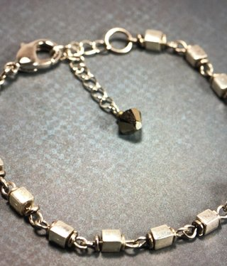 cool water jewelry BC35-50 Bracelet: Ice Caverns-Cube Chain