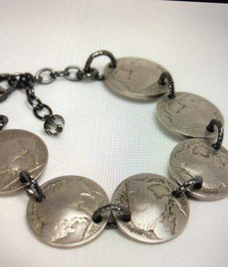 cool water jewelry BC8 Bracelet: Buffalo Nickels