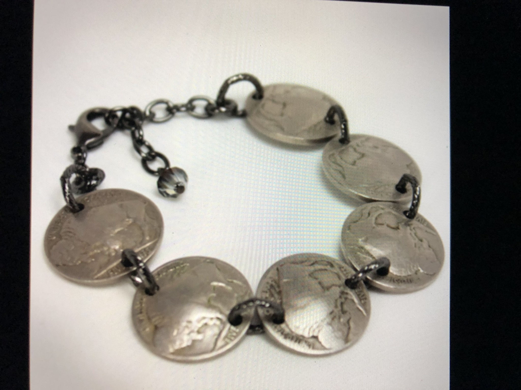 cool water jewelry BC8 Bracelet: Buffalo Nickels