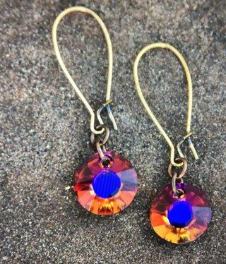 cool water jewelry EW-461-151 Sm Kidney w/Sun Crystal