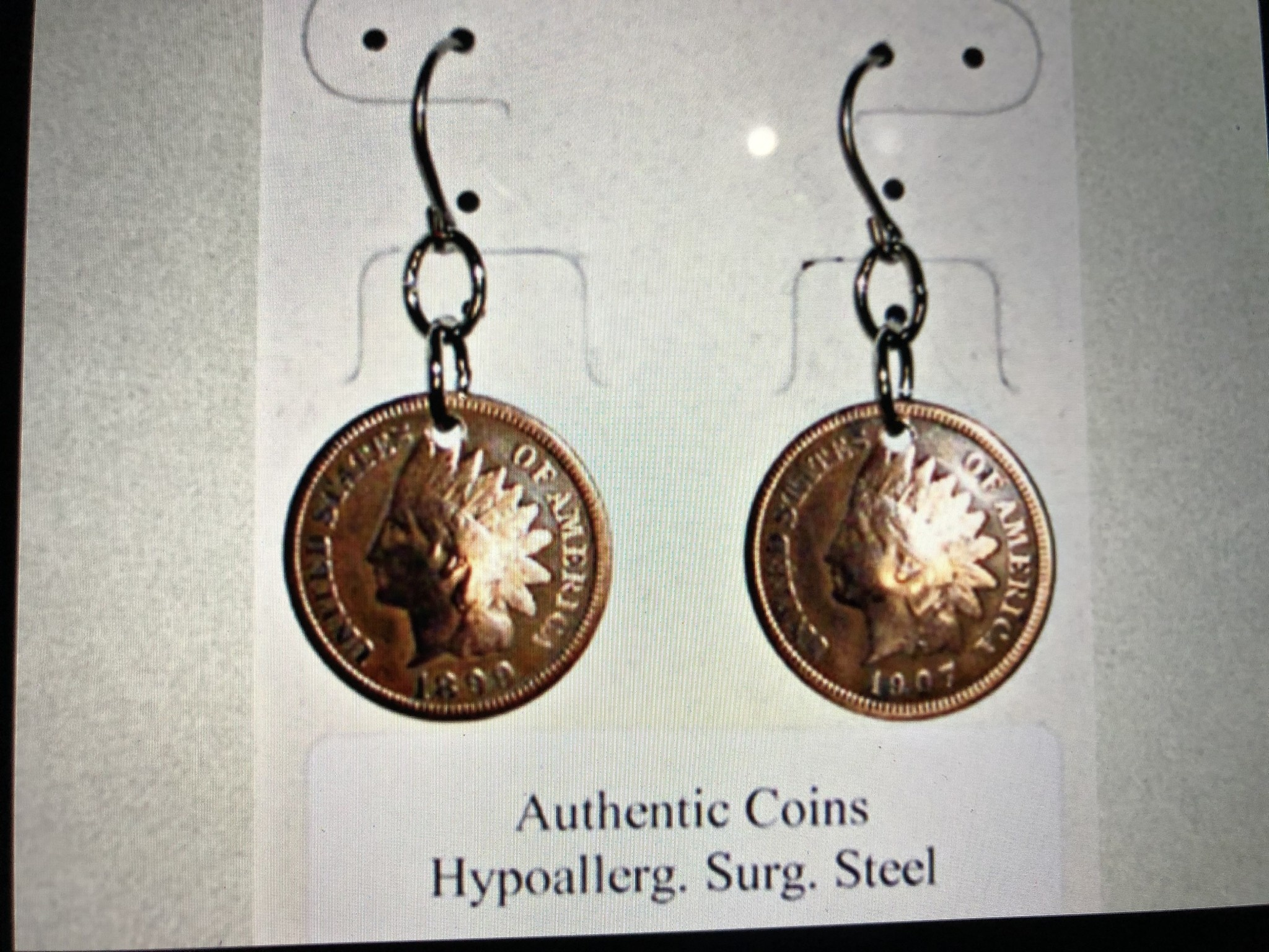 cool water jewelry EW20 Indian Head Penny