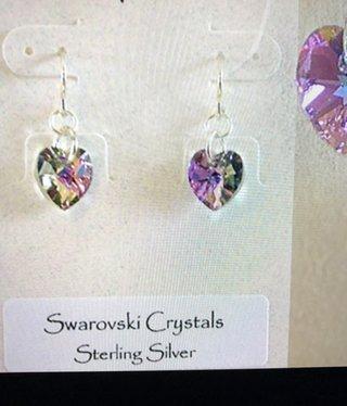cool water jewelry EW232-112 Light Rose-Swarovski Crystal Heart