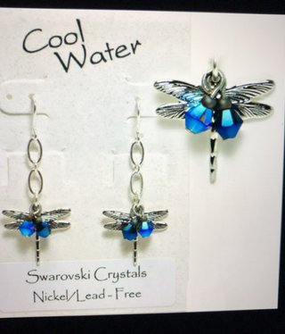 cool water jewelry EW318-129 Water Dance-Dragonfly