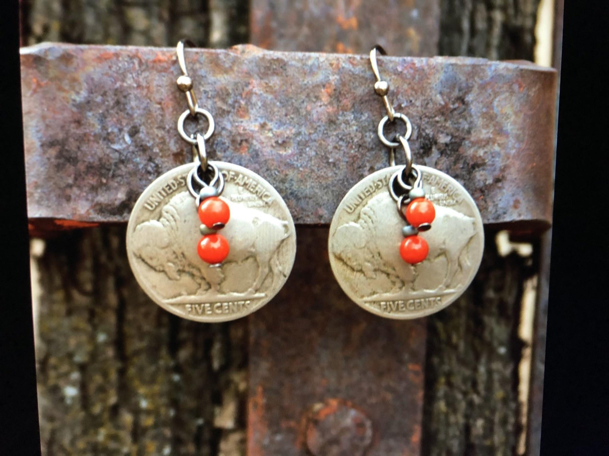 cool water jewelry EW427 Nickel & Coral Beads